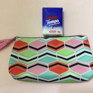 Clinique 彩色化妝袋 Colourful Cosmetic Bag