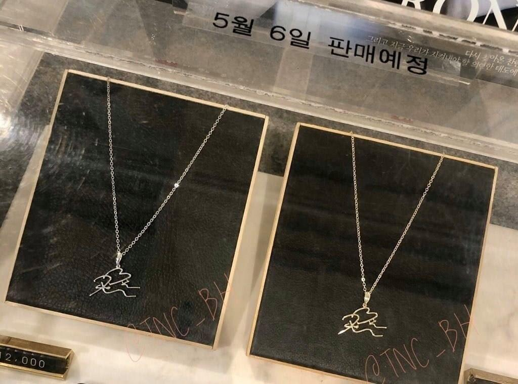 EXO BAEKHYUN AND SUHO OFFICIAL 2020 BIRTHDAY NECKLACE