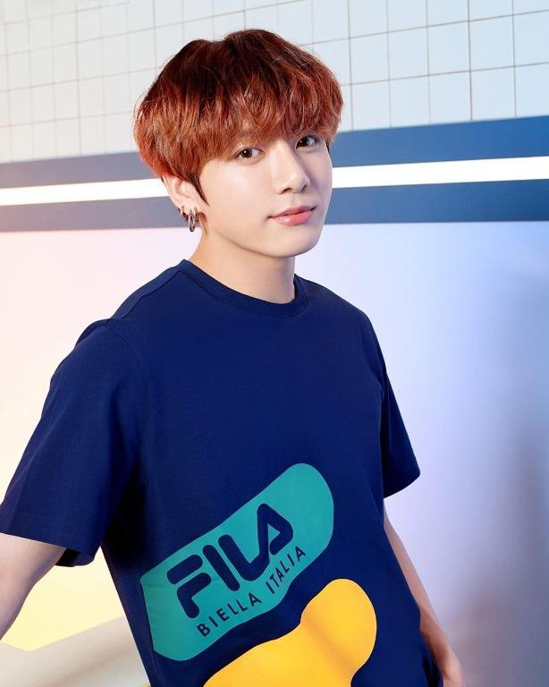[FILA X BTS] Official FILA Big Logo T-shirt (BTS Jungkook)