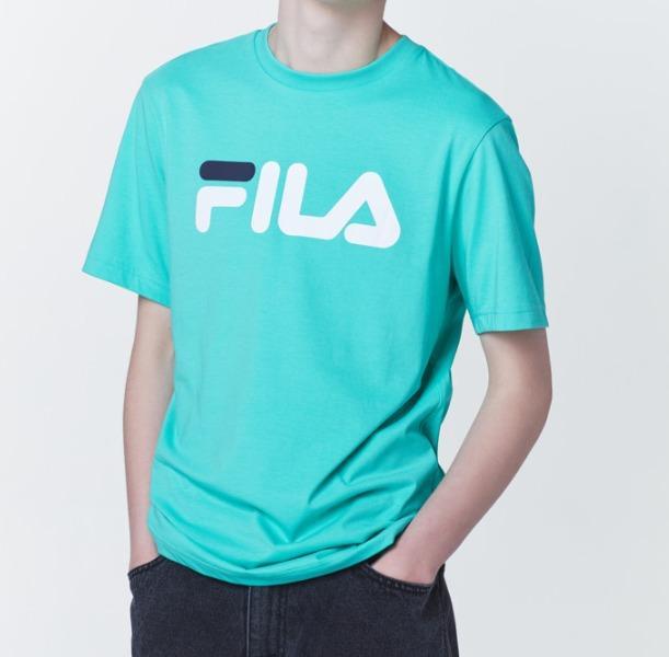 [FILA X BTS] Official FILA EMD Linear Logo T-shirt (BTS Jin)