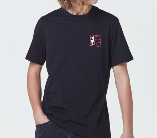 [FILA X BTS] Official FILA EMD Linear Logo T-shirt (BTS Suga)