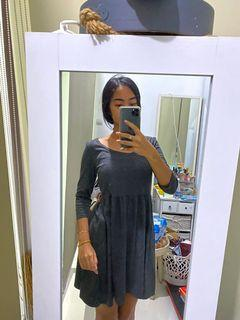 Grey flare dress #MauAirPods