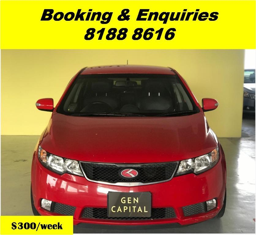 Kia Cerato HAPPY SUNDAY~ Lalamove/Grabfood/Parcel Delivery Ready! 50% OFF! Cheapest rental in town with just $500 Deposit driveoff immediately.  Whatsapp 8188 8616 now to enjoy special rates!!