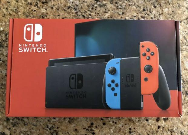 Nintendo Switch Red and Blue Joy Con