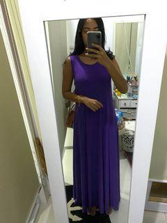 Purple Long Dress #MauAirPods