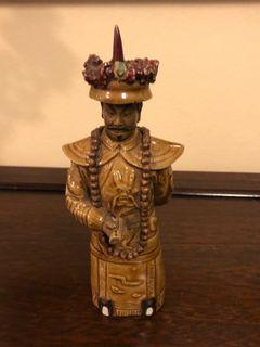 Vintage Chinese terracotta candle holder