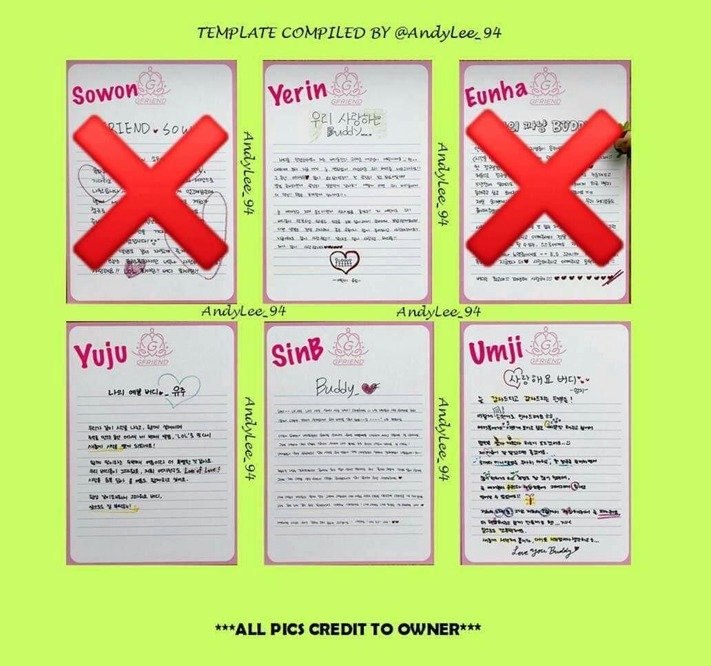 [WTB/LF] GFRIEND LOL Letter (Yuju, Yerin, Sinb, Umji)