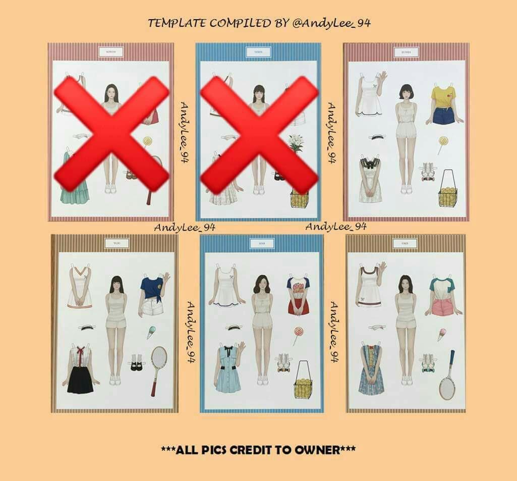 [WTB/LF] GFRIEND LOL Paper Doll (Yuju, Eunha, Sinb, Umji)