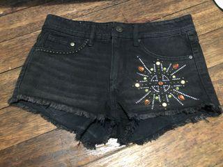 H&M Black Denim Short