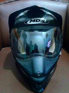 Jual Helm MDS Full Face Semi Cross Hitam/Black