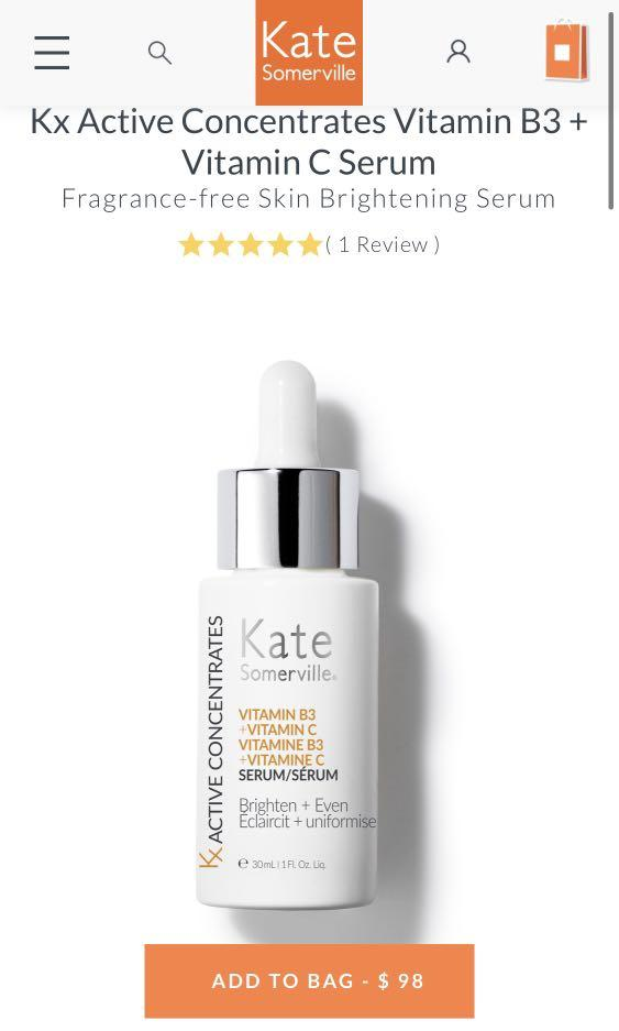 Kate Somerville KX active vitamin B3+ VitC BNIB