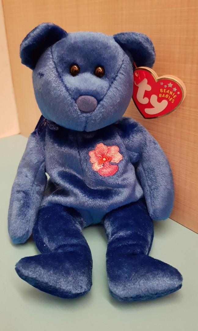 BUNGA RAYA the Bear Malaysia Exclusive 1 X TY Beanie Baby