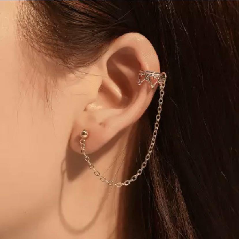 Po Helix To Lobe Earrings Women S Fashion Jewellery Earrings
