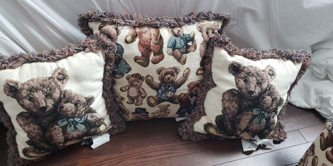 Teddy bear pillow set and chest