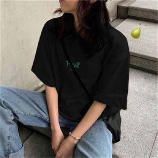 全新字母寬鬆短袖T-shirt