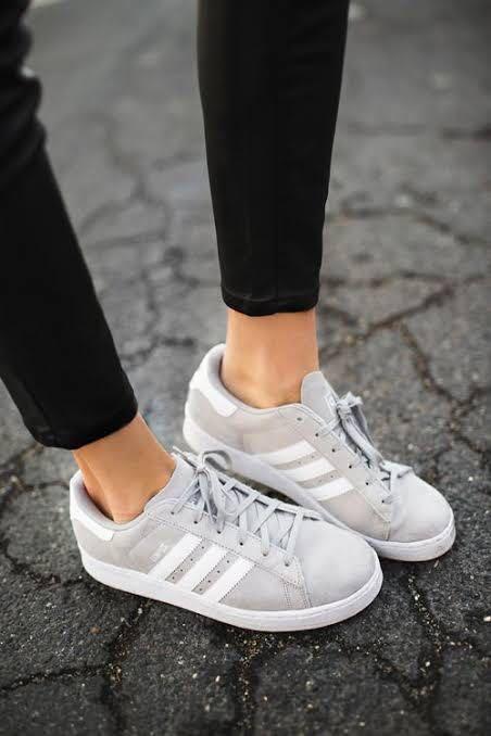 Authentic Adidas Gazelle in Gray, Women