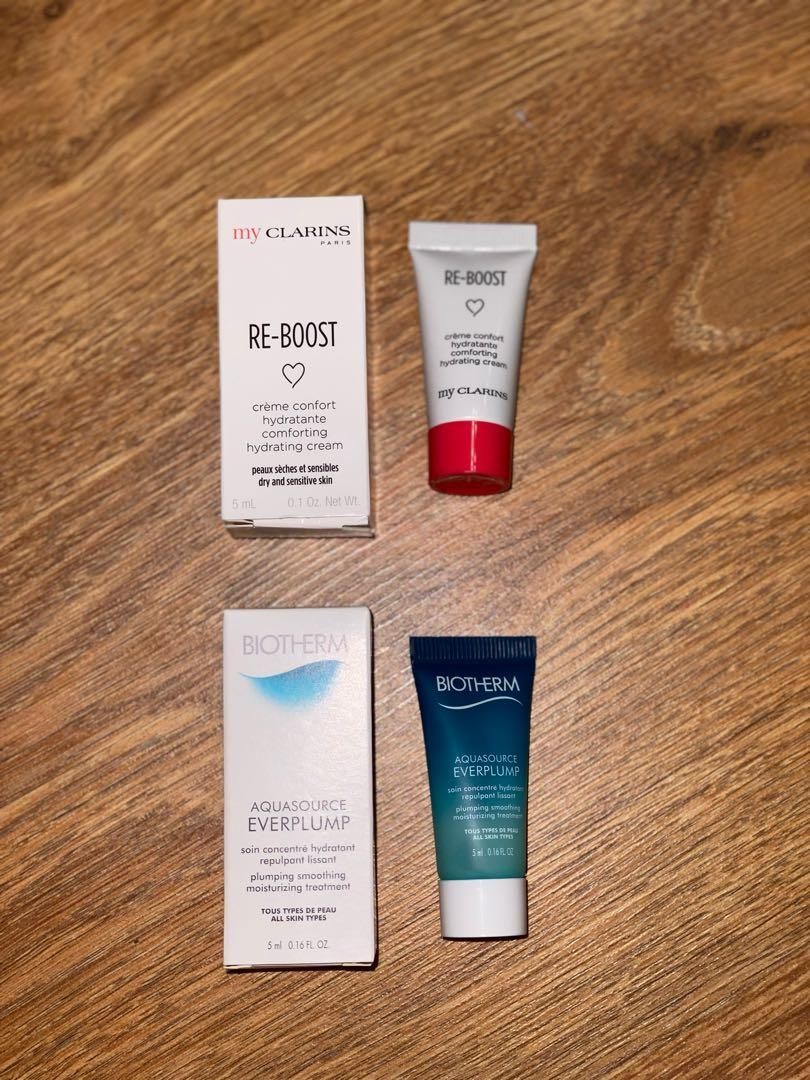 Biotherm & my-clarins samples