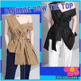 BN Female Bandage Bow-Tie Top