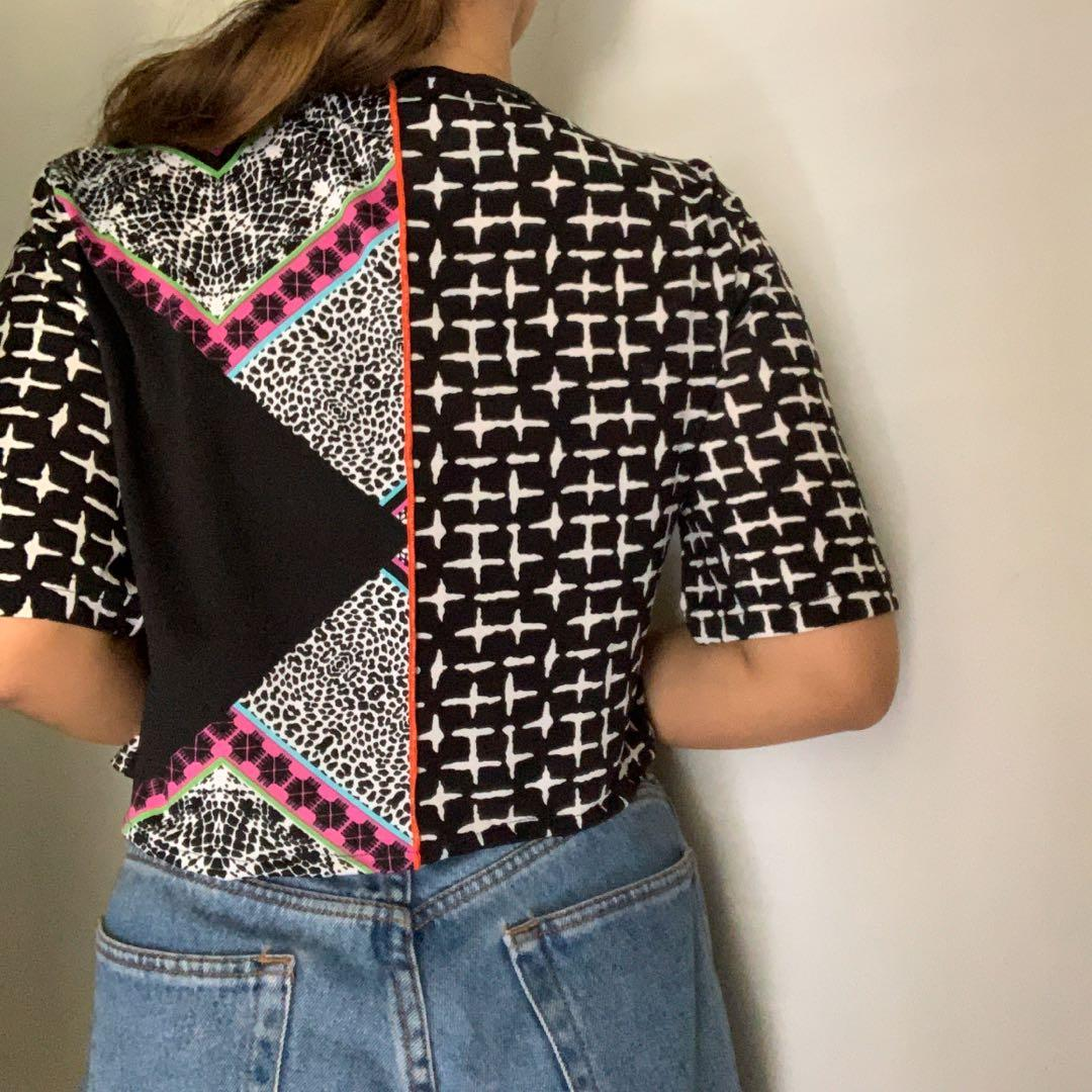 boxy fit patchwork tee