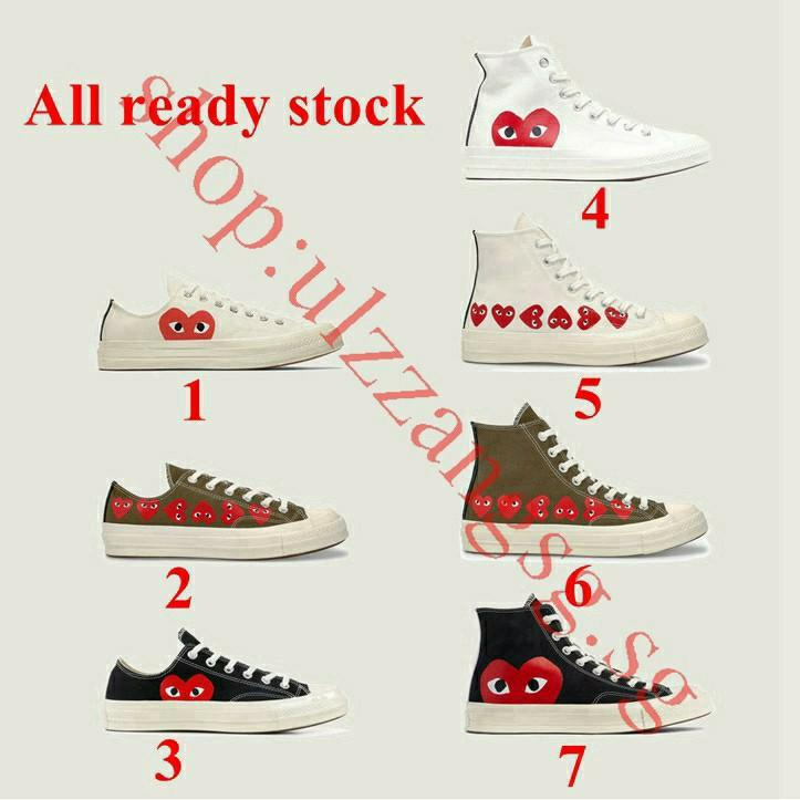 CDG X Converse sneakers size 36-44