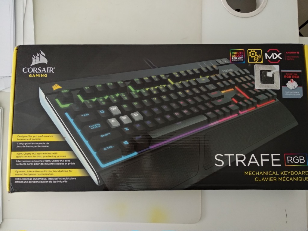 Corsair Strafe Rgb Cherry Mx Red Electronics Computer Parts Accessories On Carousell