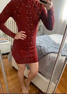 Fashionnova Lace Up Dress - Size S