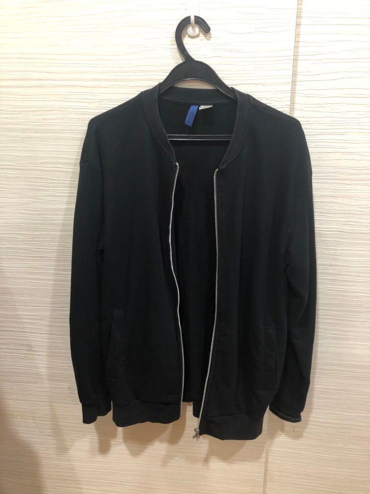 H M Black Jacket Men S Fashion Coats, H M Black Coat Fur Hood
