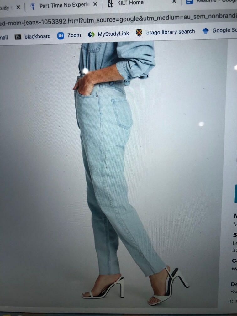 Riot high wasted mom jeans light blue