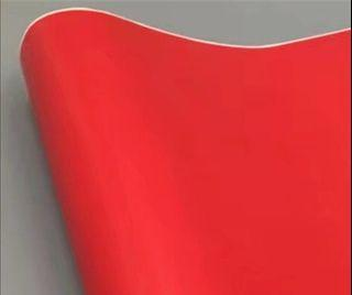 Self adhesive solid red decal paper, similar to Oracal decal  paper
