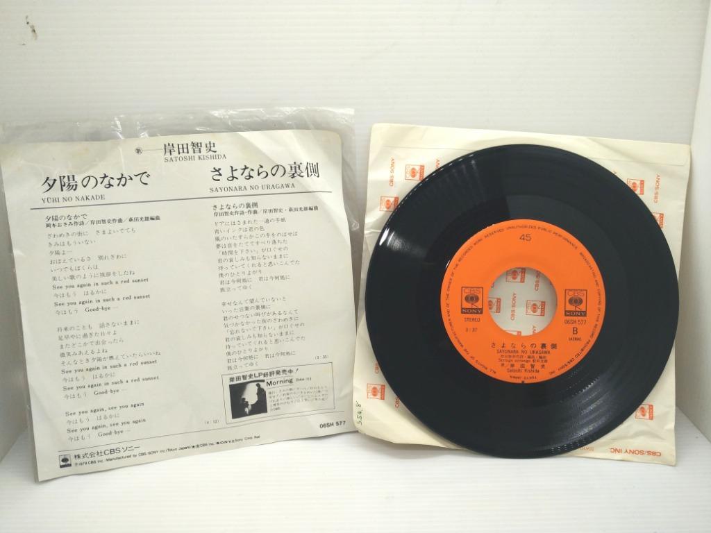 二手日本1979岸田智史 夕陽のなかで小片黑膠唱片