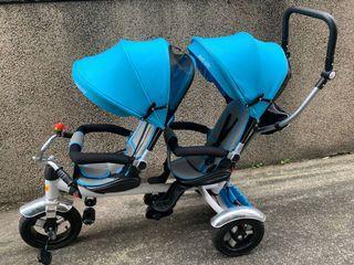 遛小孩 雙寶推車 三輪車