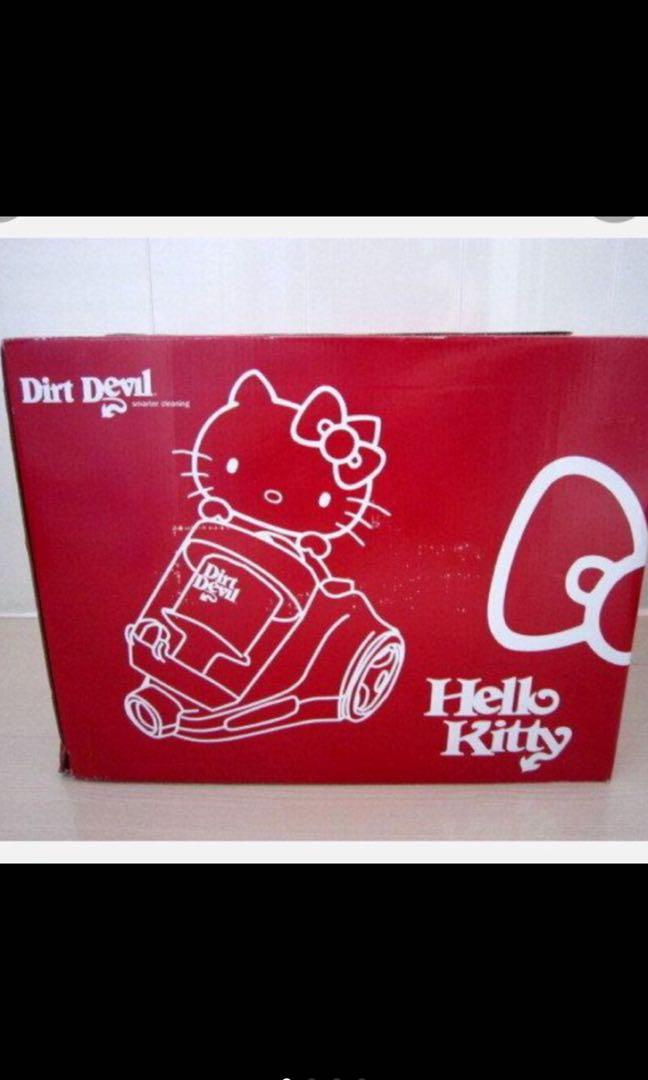 現貨!!! 限量版~~美國Dirt Devil × Hello Kitty 聯名旋風無袋吸塵器