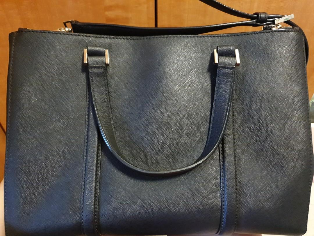🇺🇲 Kate Spade New York Newbury Lane Loden Hand Black Saffiano Leather Satchel with Care Card (Direct Purchase from US)