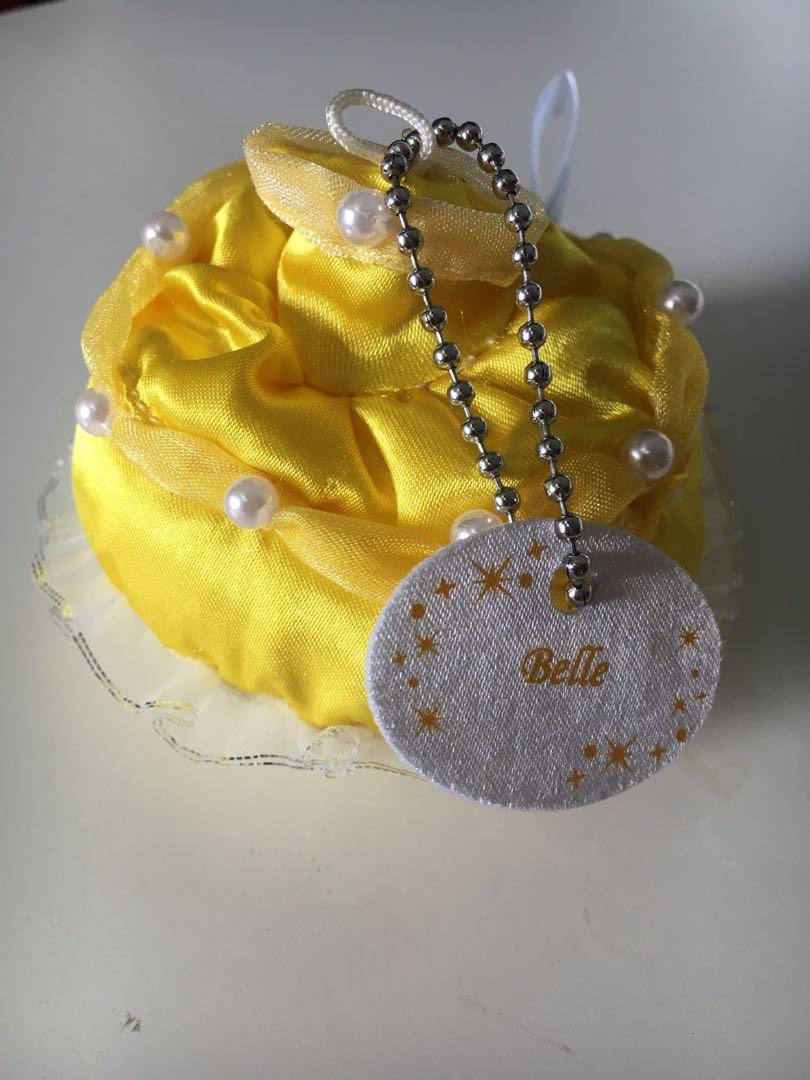 Beauty & The Beast Princess Belle dress mini plush keychain