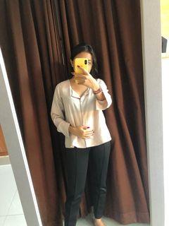 BLOUSE NUDE BROWN