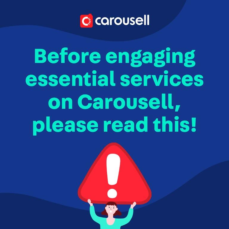 "Find out how to identify and engage safely on Carousell with NEW ""Essential"" tag"