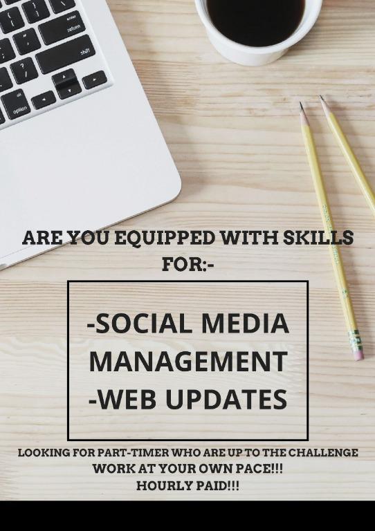 HRLY PAID PT JOB TO DO SOCIAL MEDIA & WEB MANAGEMENT~!