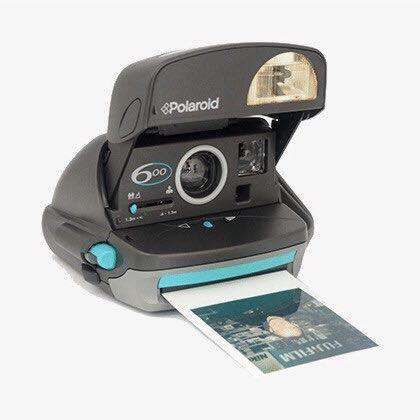 Using 600 Film BROKEN HANDLE Polaroid 600 Camera Turquoise /& Grey Working