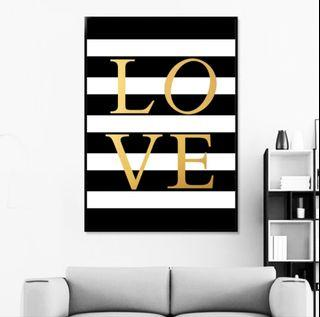 In stock - Looking hard for LOVE canvas painting