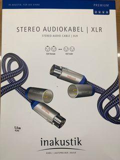 德國敏力Inakustik/XLR平衡訊號線/公司貨/1.5M長(盒裝)/九成新/高雄可面交