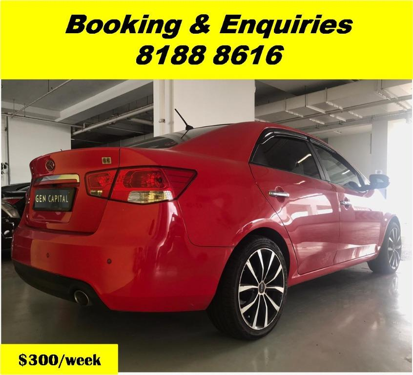 Kia Cerato Forte -THE LOWEST RENTAL WITH 50% OFF DURING CIRCUIT BREAKER, ADVANCE BOOKING ONLY.  Travel with a peace of mind with just $500 deposit driveaway. Whatsapp 8188 8616 now to enjoy special rates