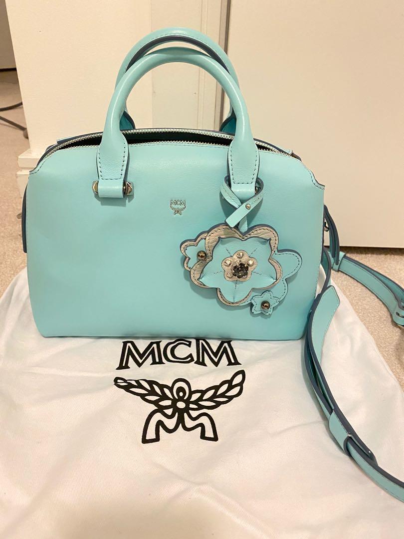 MCM boston bag Tiffany Blue