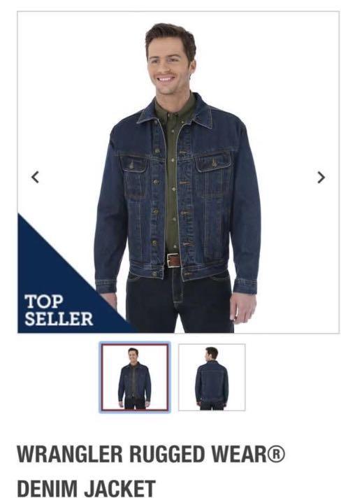 Men rugged wear jean jacket