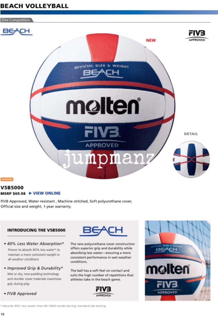 Molten V5b5000 Elite Beach Volleyball Brand New Free Delivery Sports Sports Games Equipment On Carousell