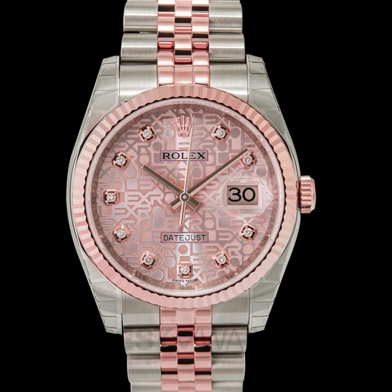 [NEW] Rolex Rolex Oyster Perpetual Datejust 36 Silver Dial Stainless Steel and 18K Everose Gold Jubilee Bracelet Automatic Men's Watch 116231SJDJ 116231-0058G