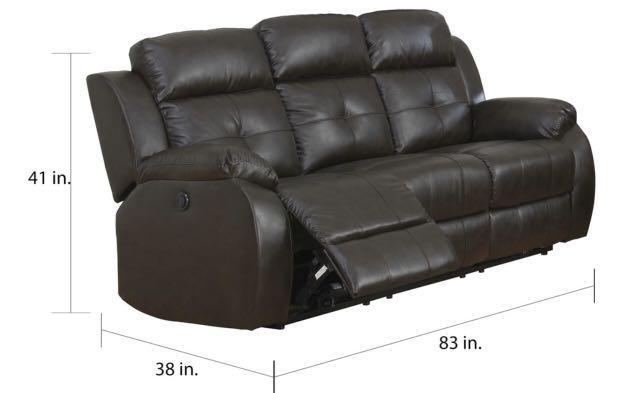 Pierce Power Reclining Sofa by Greyson Living - Brown