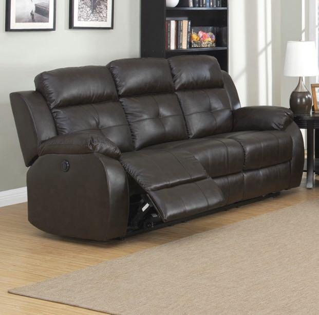 Pierce Power Reclining Sofa by Greyson Living - Brown