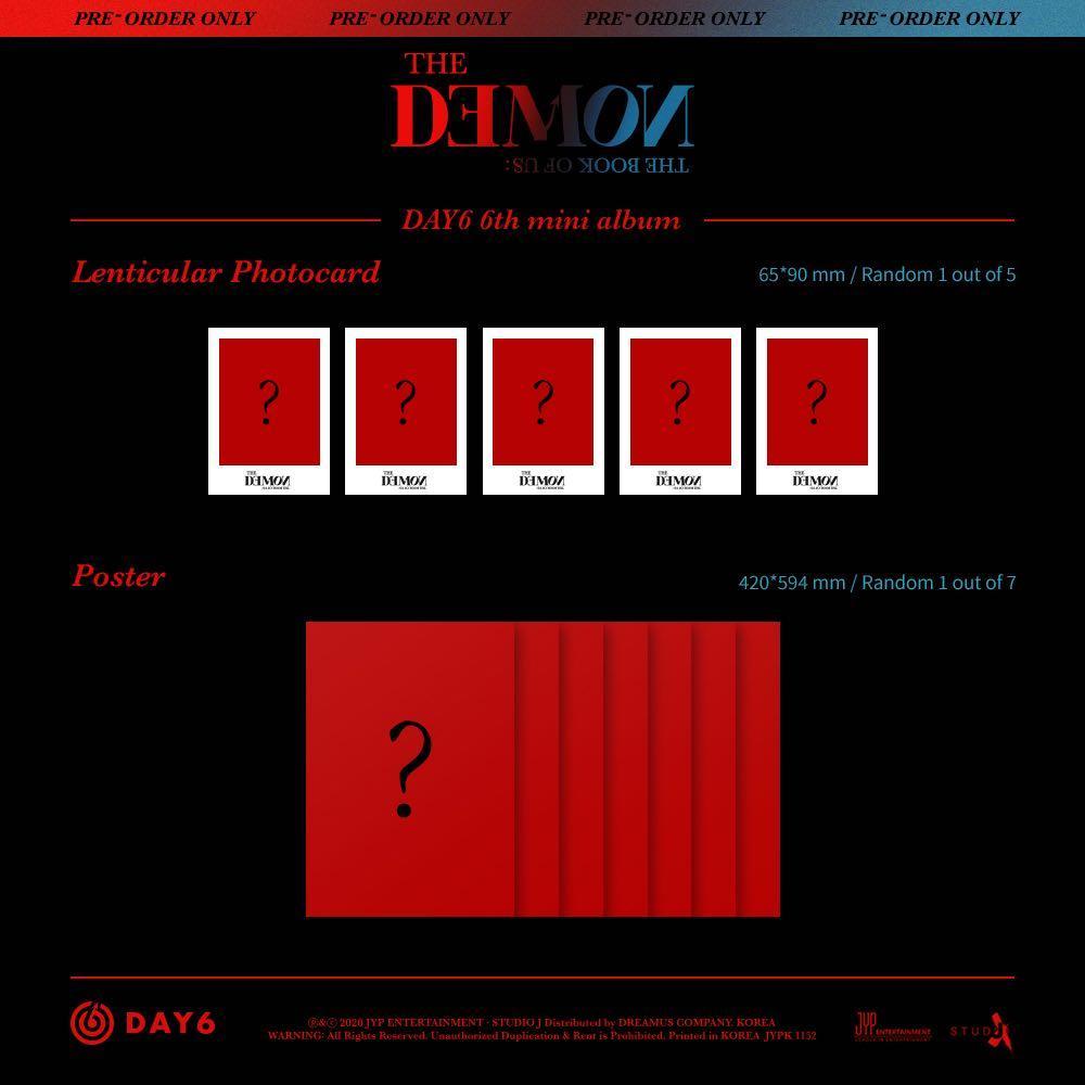 [PREORDER] DAY6 6th Mini Album - THE BOOK OF US : THE DEMON