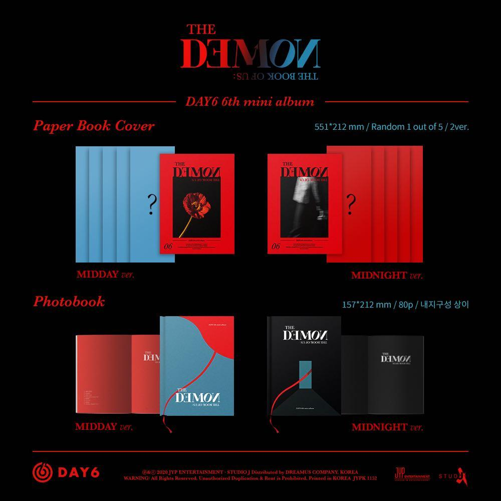 [PREORDER] DAY6 6th Mini Album - THE BOOK OF US : THE DEMON