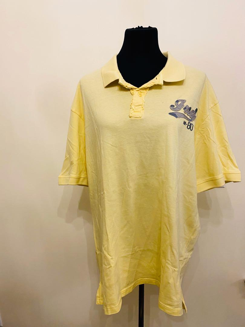 yellow tshirt size L/XL/XXL